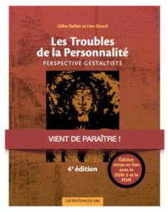 """image de couverture du livre : """"les troubles de la personnalité"""", par gilles deslile -cig montreal"""