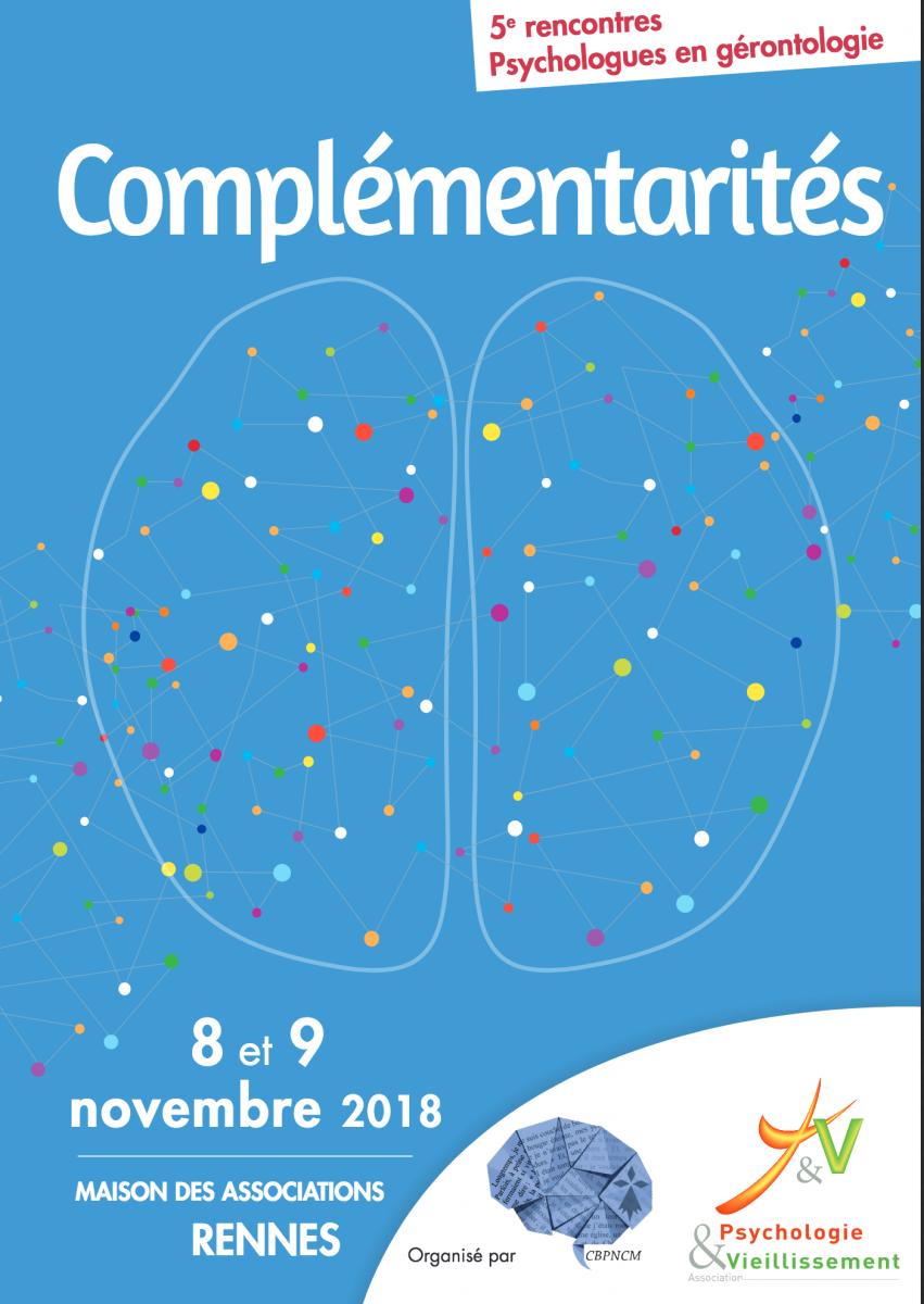 """image de couverture (affiche) de l'événement 5ème rencontres des psychologues en gérontologie : """"Complémentarité"""""""