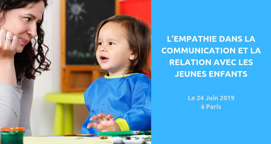 image de couverture de l'article sur le colloque : l'empathie dans la communication et la relation avec les jeunes enfants et entre adultes.