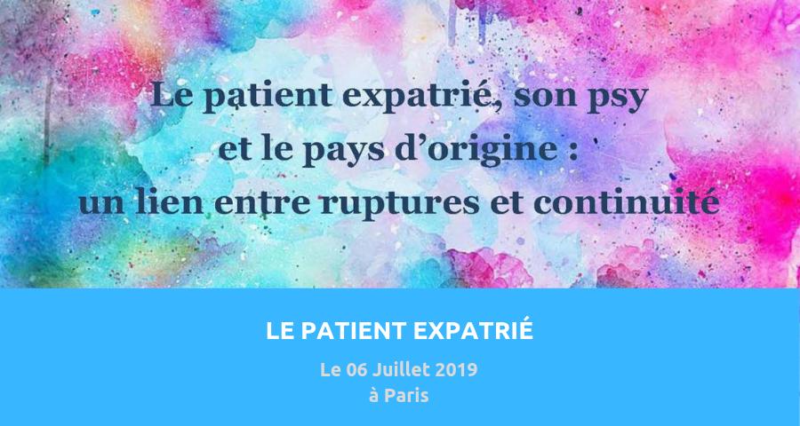 image de couverture de l'article consacré au colloque : le patient expatrié, organisé le 06 juillet 2019 à paris