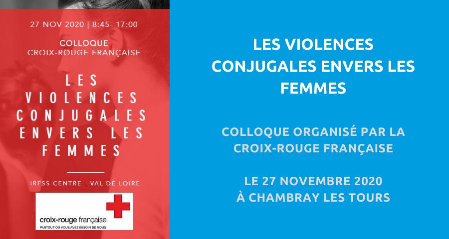 image de couverture de l'article concernant le colloque organisé par la Croix-Rouge Française :«les violences conjugales envers les femmes». Le 27 Novembre 2020 à Chambray les Tours.