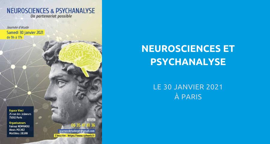 image de couverture de l'article concernant la Journée d'étude organisée par le Réseau pour la psychanalyse à l'hôpital (RPH) : « neurosciences et psychanalyse ». Le 30 Janvier 2021 à Paris.