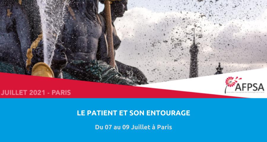 image de couverture de l'article concernant le 11eCongrès de l'Association francophone de psychologie de la santé :«patient et entourage». Du 07 au 09 Juillet à Paris.