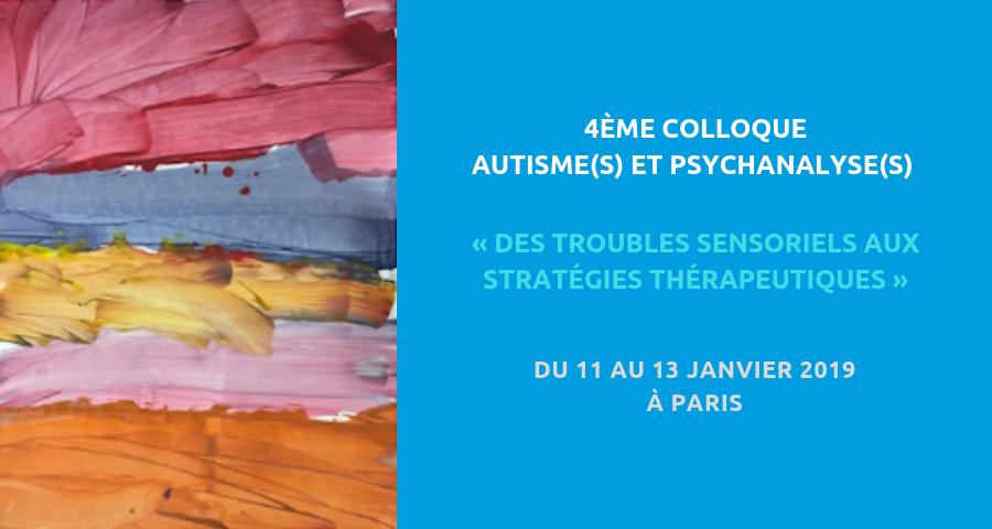 """couverture de l'article NGI du 4ème colloque de la CIPPA, à Paris du 11 au 13 janvier 2019 : """"Autisme et psychanalyse"""""""