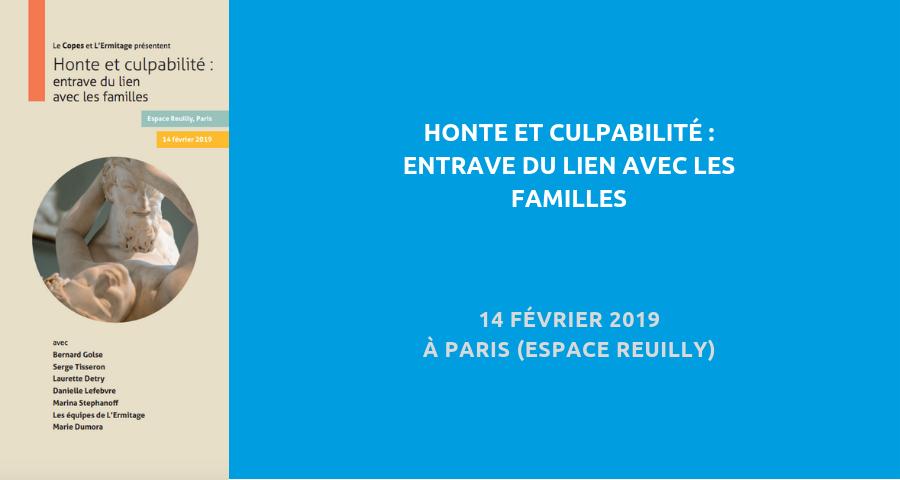 image de couverture de l'article «honte et culpabilité :entrave du lien avec les familles», colloque organisé par la Copes, le 14 février 2019 à Paris (espace Reuilly)