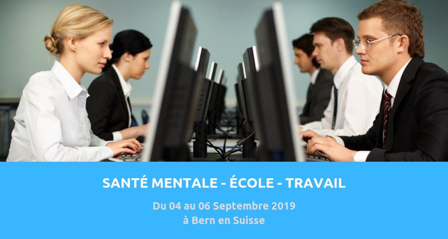 image de couverture de l'article : santé mentale, école et travail. Congrés PSY organisé à Bern en septembre 2019.