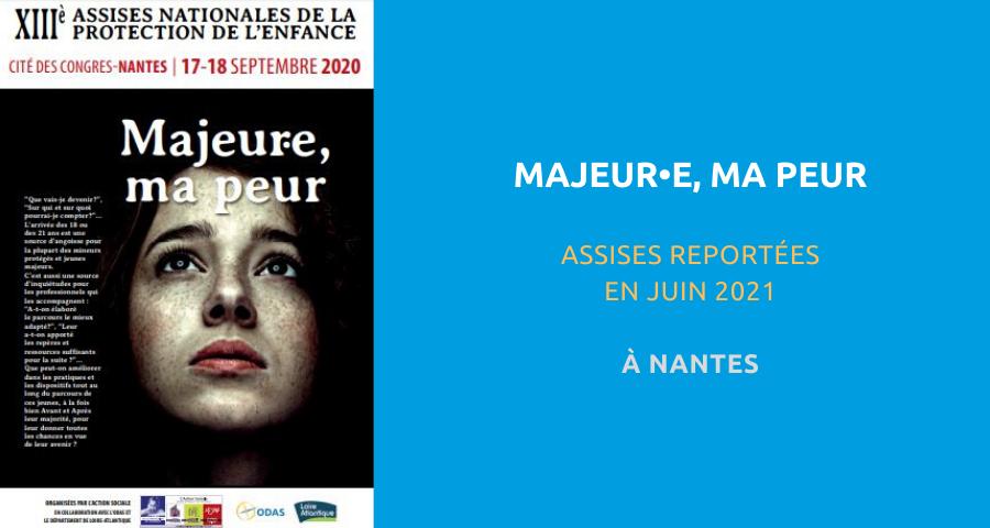 image de couverture de l'article concernant la 13esAssises nationales de la protection de l'enfance : «majeur(e), ma peur». Du 17 au 18 Septembre 2020 à Nantes.