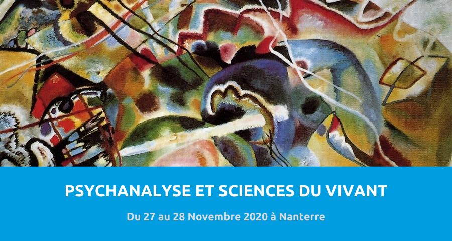 image de couverture de l'article concernant le colloque interdisciplinaire et international :«psychanalyse et sciences du vivant». Du 27 au 28 Novembre 2020 à Nanterre.