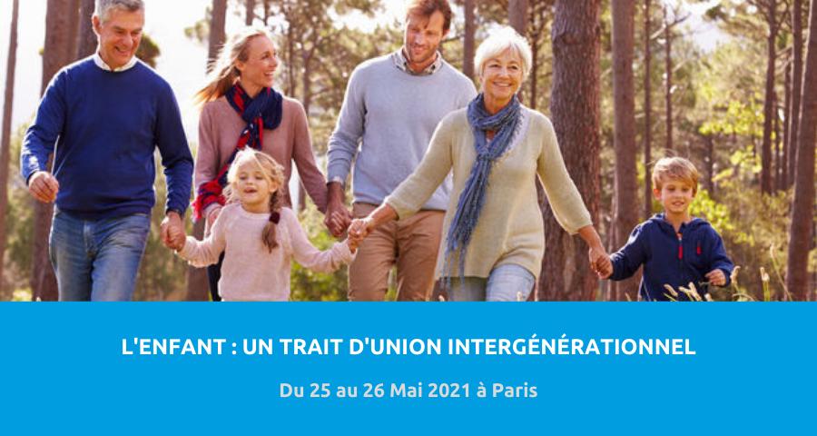 image de couverture de l'article concernant la Journées de recherche de l'Association parisienne de recherche et de travail avec les familles (APRTF) :«l'enfant, un trait d'union intergénérationnel». Du 25 au 26 Mai 2021 à Paris.
