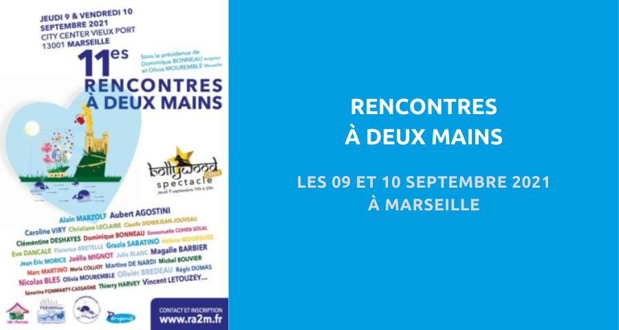 image de couverture de l'article concernant la 11eédition des Rencontres à deux mains. Les 09 et 10 Septembre 2021 à Marseille.